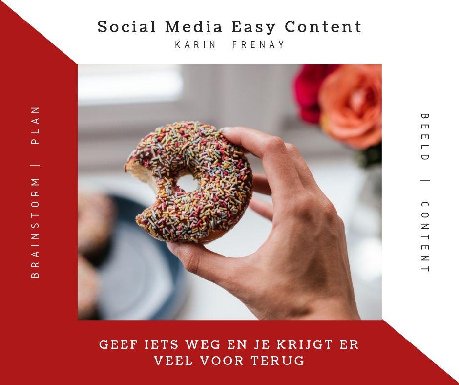 In 5 stappen social media content